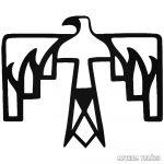 American Thunderbird - Szélvédő matrica