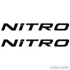 2x Nitro - Szélvédő matrica