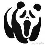 Panda Sikoly arccal matrica