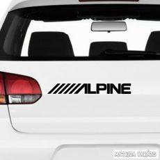 """ALPINE logó """"1"""" - Szélvédő matrica"""