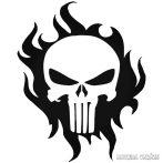 Punisher lángokkal Autómatrica