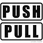"""Push Pull felirat """"1"""" Autómatrica"""