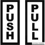 """Push Pull felirat """"2"""" Autómatrica"""