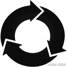 """Újrahasznosítás ikon """"1"""" Autómatrica"""