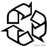 """Újrahasznosítás ikon """"2"""" Autómatrica"""