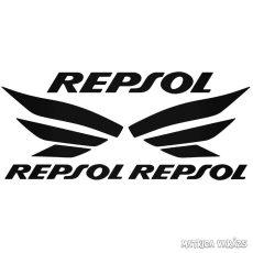 3x Repsol felirat - Szélvédő matrica