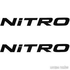 2x NITRO felirat - Szélvédő matrica