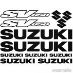 Suzuki SV650 szett matrica