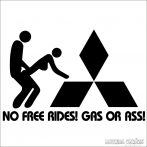 Mitsubishi no free Rides! Matrica