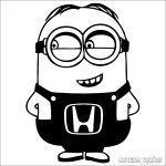 Honda matrica Minion szerelő