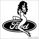 Ford matrica ülő csaj