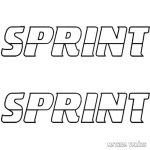 2x Sprint felirat - Szélvédő matrica