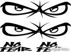 2x No Fear szett - Szélvédő matrica