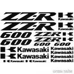 Kawasaki ZZR 600 szett matrica