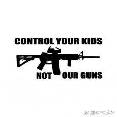 Control Your Kids - Szélvédő matrica