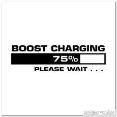 75% Boost Charging - Szélvédő matrica