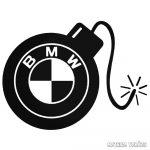 BMW matrica Robbanó Bomba