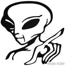 Alien Hello - Szélvédő matrica