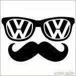Volskwagen matrica szemüveg bajusz