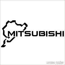 Mitsubishi Nürburgring matrica
