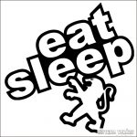 Eat Sleep Peugeot matrica