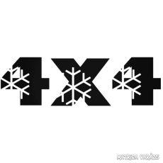 4x4 Winter - Szélvédő matrica