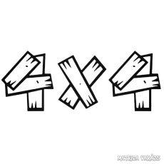 4x4 deszkákból - Szélvédő matrica