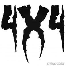 4x4 horror - Szélvédő matrica