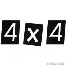 """4x4 """"13"""" - Szélvédő matrica"""