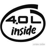 4.0L inside - Szélvédő matrica