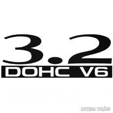 3.2 DOHC V6 - Szélvédő matrica