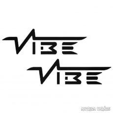 2x Vibe felirat - Szélvédő matrica