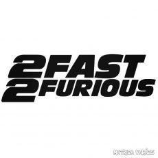 2Fast2Furious - Szélvédő matrica
