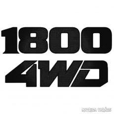 1800 4WD - Szélvédő matrica