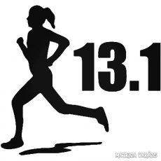 "13.1 Félmaraton női ""1"" matrica"