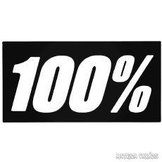"""100% - Szélvédő matrica """"1"""""""