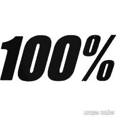 """100% - Szélvédő matrica """"2"""""""