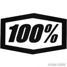 """100% - Szélvédő matrica """"3"""""""