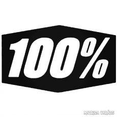 """100% - Szélvédő matrica """"4"""""""