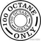100 Octane Fuel Only - Szélvédő matrica