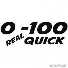 0-100 Real Quick - Szélvédő matrica