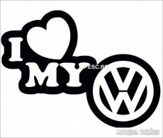 I Love My VW embléma matrica