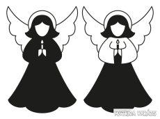 Két angyalka matrica