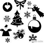 """Karácsonyi díszek """"19"""" szett Matrica (30 cm)"""