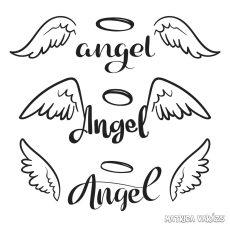 """Angel felirat """"1"""" szett matrica (30 cm)"""