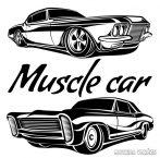 Muscle Car szett - Autómatrica (30 cm)