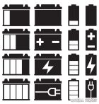 Akkumulátor szett - Szélvédő matrica (30 cm)
