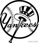 Yankees csapat matrica