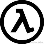 Half-Life logó matrica