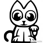 Integető Macska matrica